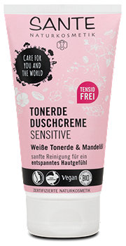 Sante Tonerde Duschcreme Sensitive Weiße Tonerde & Mandelöl