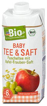 dmBio Baby Fencheltee mit Apfel-Trauben-Saft