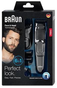 Braun 6in1 elektrischer Rasierer Gesicht & Bart Trimmer MGK3020