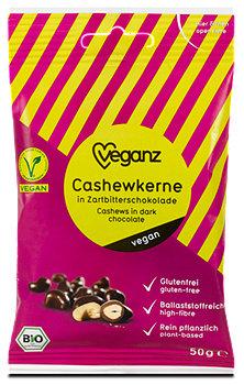veganz Cashewkerne in Zartbitterschokolade