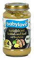 babylove Menü Kartoffeln mit Brokkoli und Rind auf Pfirsichpüree