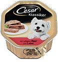 Cesar Klassiker Hundefutter mit saftigem Rind und Leber