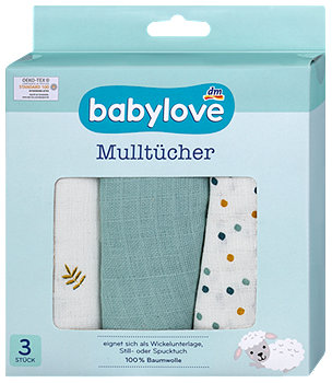 babylove Mulltücher sort.