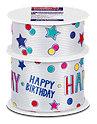 Profissimo Geschenkband-Set Happy Birthday & Sterne