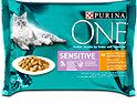 One Sensitive Katzenfutter Zarte Stückchen in Sauce Huhn & Karotte
