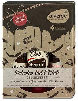 alverde Geschenkset Schoko liebt Chili