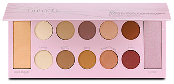 Mrs. Bella 12 Color Eyeshadow & Highlighter Palette