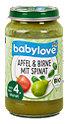 babylove Fruchtbrei Apfel & Birne mit Spinat