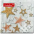 Profissimo Motiv-Servietten Sterne mit Muster