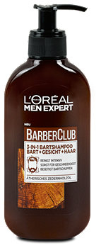 L'Oréal Men Expert Barber Club 3in1 Bartshampoo Bart+Gesicht+Haar