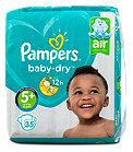Pampers baby-dry Windeln Gr. 5+ (12-17 kg)