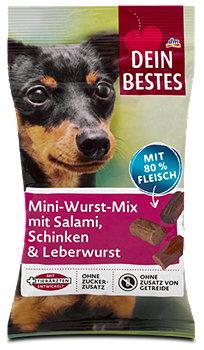 Dein Bestes Mini-Wurst-Mix mit Salami, Schinken & Leberwurst