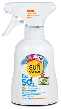 SUNDANCE Med Kids Ultra Sensitive Sonnenspray LSF 50+