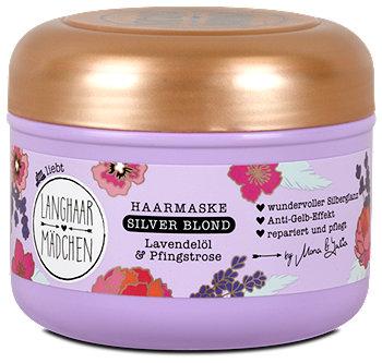 Langhaarmädchen Silver Blond Haarmaske Lavendelöl & Pfingstrose