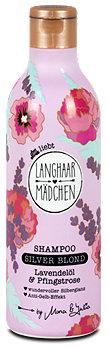 Langhaarmädchen Silver Blond Shampoo Lavendelöl & Pfingstrose