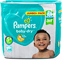 Pampers baby-dry Windeln Gr. 5+ (12-17 kg) Jumbo+ Pack