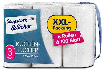 Saugstark&Sicher Küchentücher XXL Packung