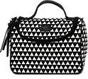 Beauty Case schwarz-weiß mit Trianglemuster