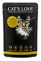 Cat's Love Katzenfutter Kalb & Truthahn in natürlichem Gelee
