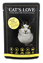 Cat's Love Katzenfutter Huhn pur in natürlichem Gelee