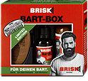 Brisk for men Bart-Box 2in1 Shampoo + Bartöl + Holz-Bartkamm