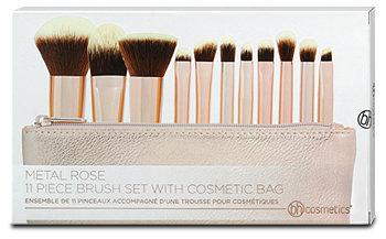 bh cosmetics Pinselset Metal Rose & Kosmetiktasche