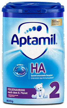 Aptamil HA 2 mit Syneo Hypoallergene Folgenahrung