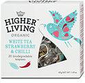 Higher Living Organic Tee White Tea, Strawberry & Chili