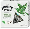 Higher Living Organic Tee Green Tea Coconut