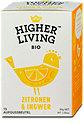 Higher Living Bio Tee Zitronen & Ingwer