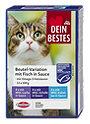 Dein Bestes Katzenfutter Beutel-Variationen mit Fisch in Sauce