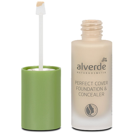 alverde make up perfect cover foundation concealer make up. Black Bedroom Furniture Sets. Home Design Ideas