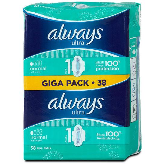Always Ultra Binden Normal Mit Flügeln Giga Pack