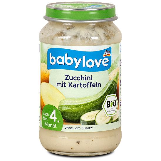 babylove babybrei zucchini mit kartoffeln men im dm online shop. Black Bedroom Furniture Sets. Home Design Ideas