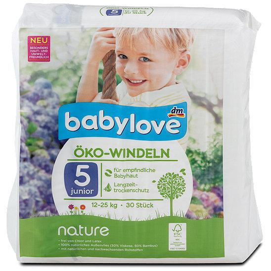 Babylove Nature Oko Windeln Gr 5 12 25 Kg