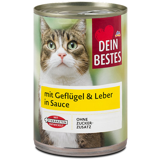 Dein Bestes Katzenfutter Mit Geflugel Leber In Sauce