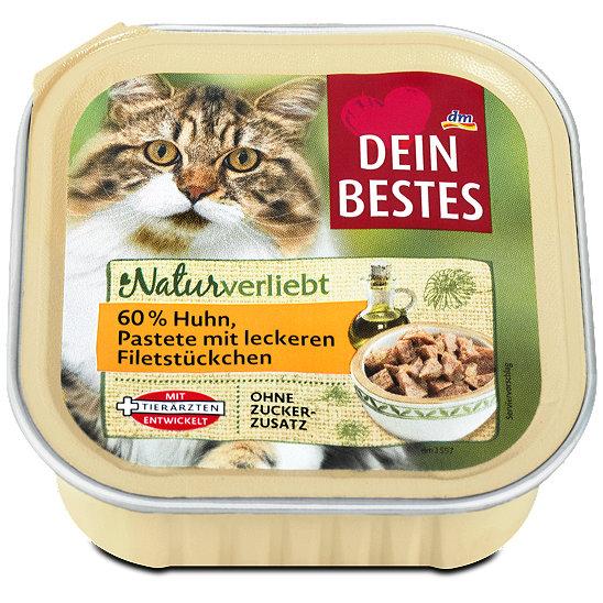 Dein Bestes Naturverliebt Katzenfutter Pastete Mit Huhn