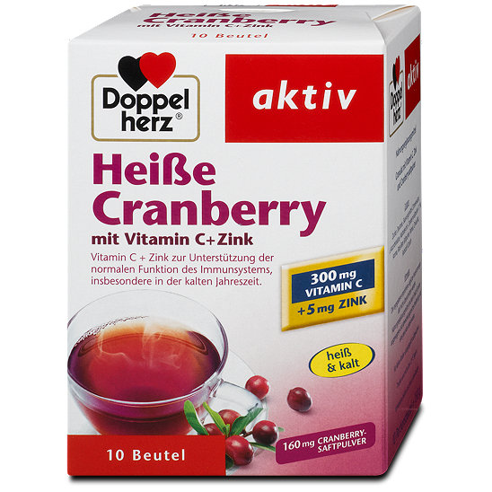 doppelherz aktiv hei e cranberry mit vitamin c zink pulver. Black Bedroom Furniture Sets. Home Design Ideas