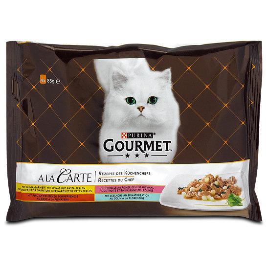 Gourmet A La Carte Katzenfutter Mit Fisch Fleisch