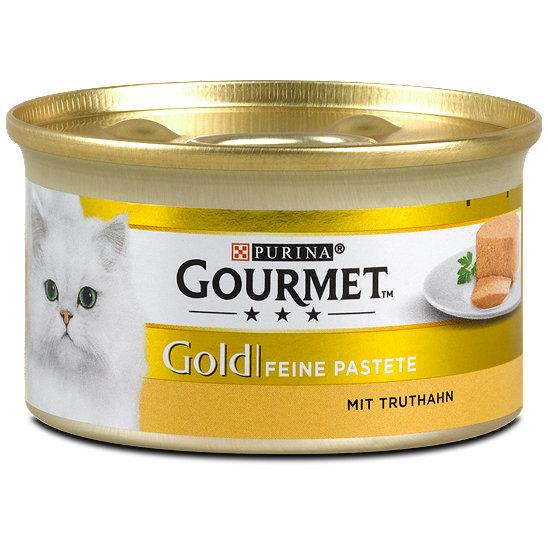 gourmet gold feine pastete mit truthahn katzenfutter dose. Black Bedroom Furniture Sets. Home Design Ideas