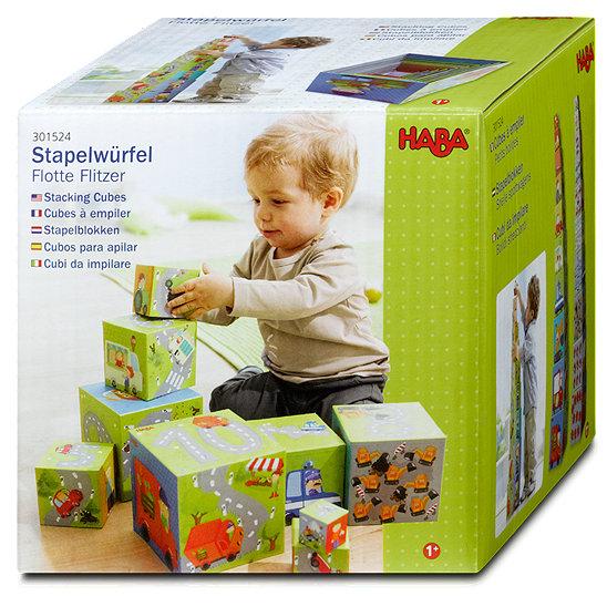 haba stapelw rfel flotte flitzer lernspiele im dm online shop. Black Bedroom Furniture Sets. Home Design Ideas