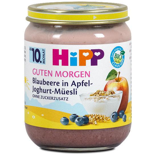 Hipp Guten Morgen Fruchtbrei Blaubeere In Apfel Joghurt Müesli