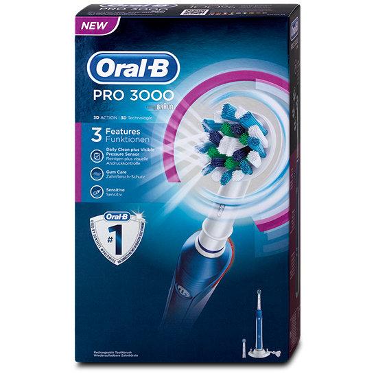 oral b pro 3000 elektrische zahnb rste elektrische zahnpflege. Black Bedroom Furniture Sets. Home Design Ideas