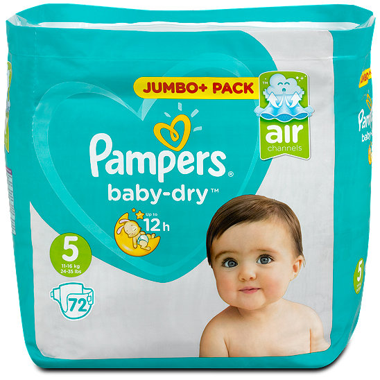 pampers baby dry windeln gr 5 11 25 kg jumbo pack. Black Bedroom Furniture Sets. Home Design Ideas