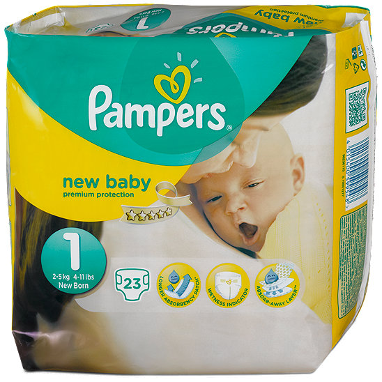 pampers new baby premium protection 1 newborn windeln 2 5 kg. Black Bedroom Furniture Sets. Home Design Ideas