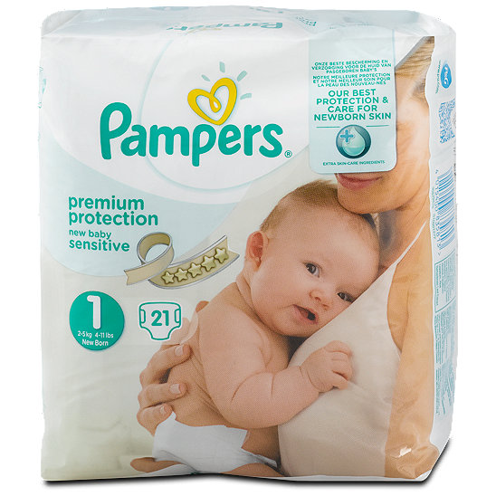 Pampers Premium Protection New Baby Sensitive Gr 1 2 5 Kg