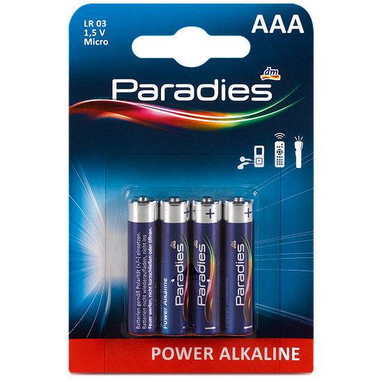 paradies power alkaline aaa batterie batterien im dm online shop. Black Bedroom Furniture Sets. Home Design Ideas