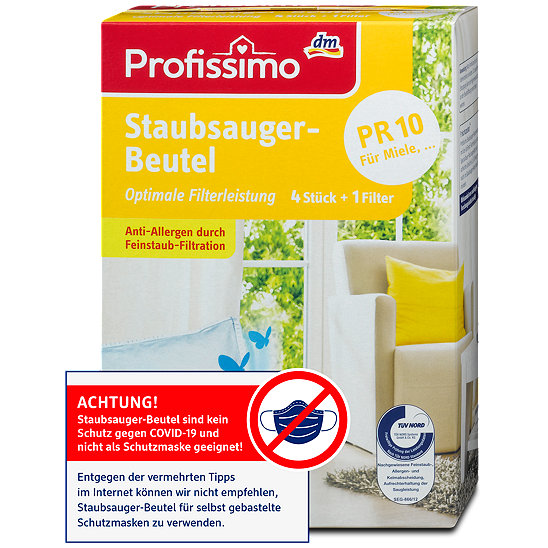 40 Staubsaugerbeutel geeignet f/ür Profissimo PR60