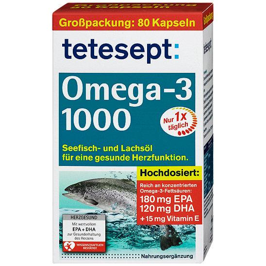Tetesept Omega 3 Lachsöl 1000 Kapseln