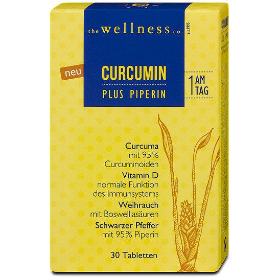the wellness co curcumin plus piperin tabletten. Black Bedroom Furniture Sets. Home Design Ideas